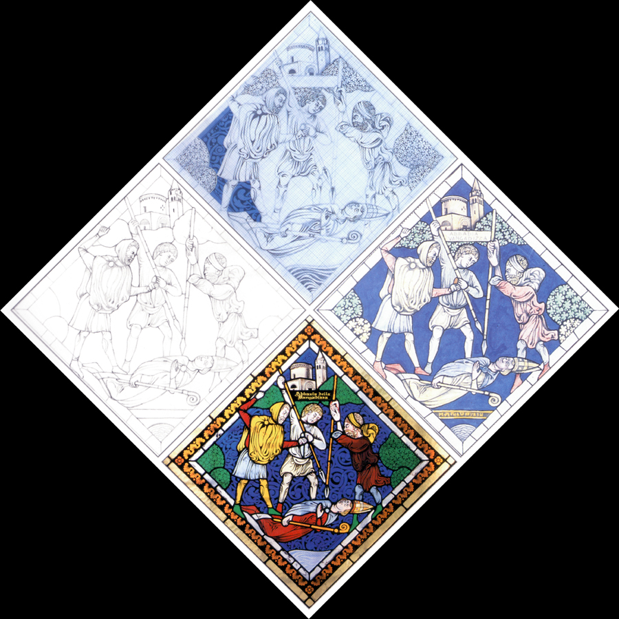 Disegni di vetrate amazing antico disegno per vetrata figurativa artistica di san giuseppe with - Cosa vedo dalla mia finestra tema ...