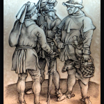 Tre contadini in conversazione900