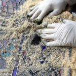 Fase di pulizia dallo stucco
